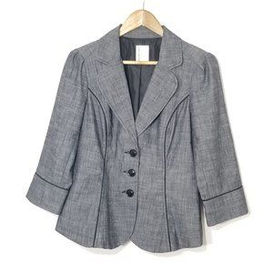 Smart Set | Heather Gray 3/4 Sleeve Blazer Jacket
